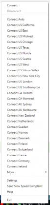 PIA VPN Locations