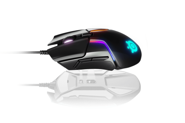SteelSeries Rival 600 gaming mouse with dual sensors