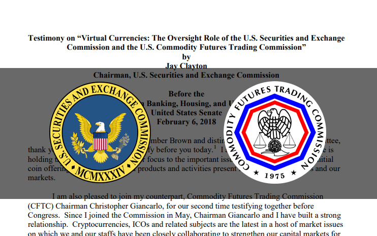 Congress to hear from SEC and CFTC on Cryptocurrency